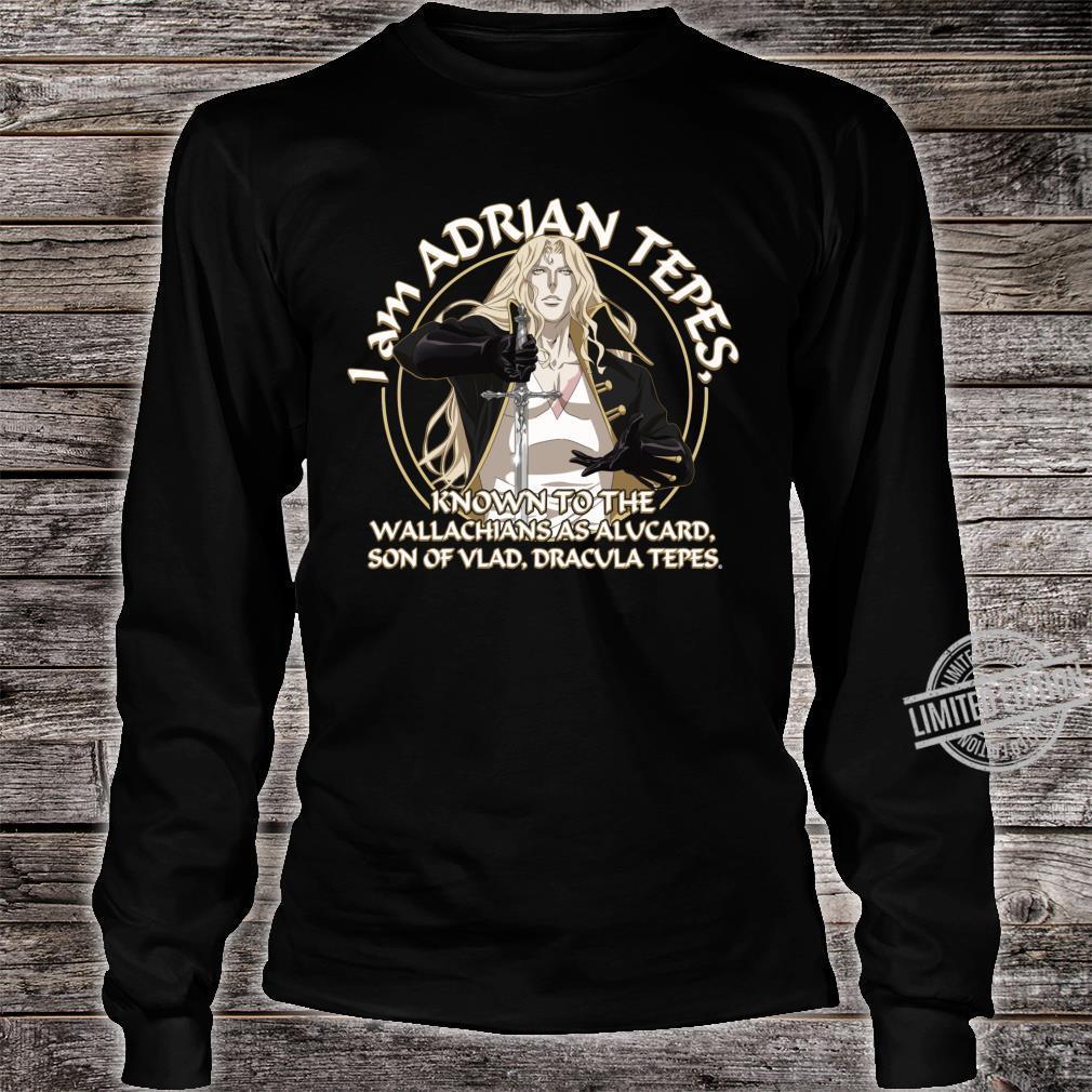 Netflix Castlevania I Am Adrian Tepes Known As Alucard Maglietta